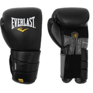 Everlast Leather Pro 3 Boxing Gloves Black 358603 14oz 762143, Black