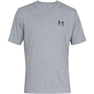 Left Chest Logo Short Sleeve T Shirt Mens Steel/black 397502 S 59089702, Steel/Black