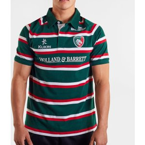 Kukri Leicester Tigers 2019/20 Home S/s Classic Shirt Green/red/white 65695 S Lt00255m109, Green/Red/White