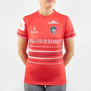 Kukri Leicester Tigers 2019/20 Ladies Alternate S/s Replica Rugby Shirt Orange/red/white 65702 10 Lt00261w178, Orange/Red/White