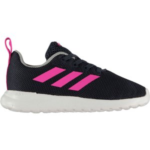 Adidas Lite Racer Trainers Infant Girls Navy/pink/wht 326853 9k 021137, Navy/Pink/Wht