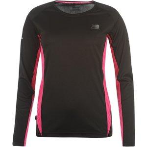 Karrimor Long Sleeve Running T Shirt Ladies Black/pink 224915 M 456137, Black/Pink