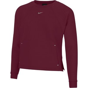 Nike Luxury Fleece Crew Sweatshirt Ladies Dark Beetroot/metallic Silver 518254 M 666042, DARK BEETROOT/METALLIC SILVER