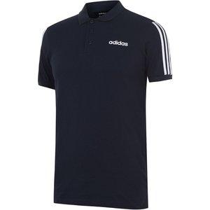 Adidas Mens Cotton 3 Stripes Polo Shirt Navy/white 232815 Xl 543002, Navy/White