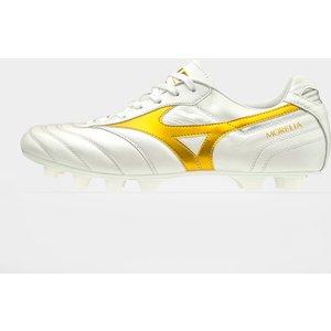 Mizuno Morelia Ii Japan Fg Football Boots White/gold 66429 9h P1ga2011 50, White/Gold