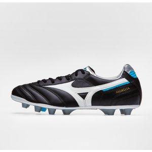 Mizuno Morelia Ii Md Fg Football Boots Black/white/blue Atoll 44124 7 P1ga1814 02, Black/White/Blue Atoll