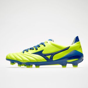 Mizuno Morelia Neo Ii Japan Fg Football Boots Safety Yellow/true Blue 66421 12 P1ga2051 25, Safety Yellow/True Blue