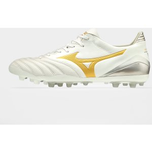 Mizuno Morelia Neo Ii K Leather Ag Football Boots White/gold 66440 9h P1ga2059 50, White/Gold