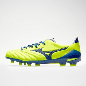 Mizuno Morelia Neo Ii Md Fg Football Boots Safety Yellow/true Blue 66423 8h P1ga2053 25, Safety Yellow/True Blue