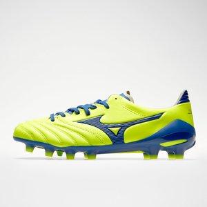 Mizuno Morelia Neo Ii Md Fg Football Boots Safety Yellow/true Blue 66423 8h P1ga2053 25, Safety Yellow/True Blue