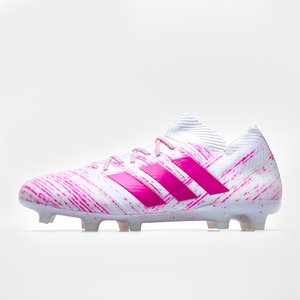 Adidas Nemeziz 18.1 Fg Football Boots White/shockpink 60609 10 Bb9427, White/ShockPink