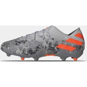 Adidas Nemeziz 19.1 Junior Fg Football Boots Grey/orange 300549 1 086025, Grey/Orange