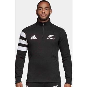 Adidas New Zealand All Blacks 2019/20 1/4 Zip Fleece Black/white 60852 Xxl Dn5994, Black/White
