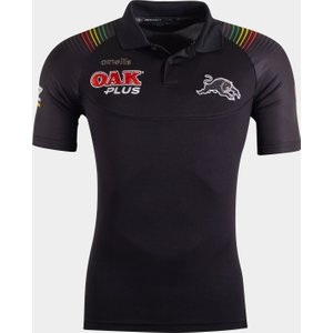 Oneills Penrith Panthers 2020 Nrl Players Rugby Polo Shirt Black 392243 L, Black