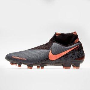 Nike Phantom Vision Elite Df Mens Fg Football Boots Dkgrey/mango 290687 8 201162, DkGrey/Mango