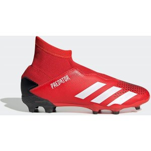 Adidas Predator 20.3 Laceless Childrens Fg Football Boots Red/white/black 147121 13k 083115, Red/White/Black