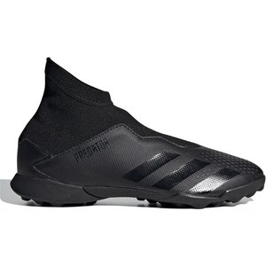 Adidas Predator 20.3 Laceless Kids Astro Turf Trainers Black/black 336204 13k 083116, Black/Black