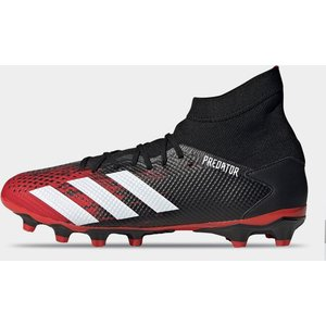 Adidas Predator 20.3 Mid Ground Football Boots Mens Blk/white/red 426172 11 263104, Blk/White/Red