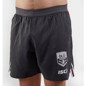 Isc Queensland Maroons Nrl 2020 Players Rugby Training Shorts Grey 392204 4xl Qm20sho02m, Grey