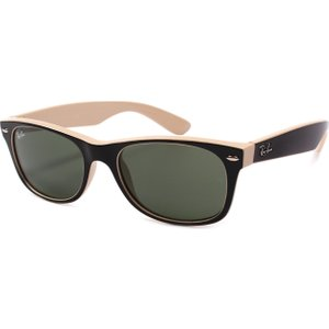 Ray-ban 2132 875 Wayfarer Sunglasses Black/beige 19282 Ones Rb2132 875 52, Black/Beige