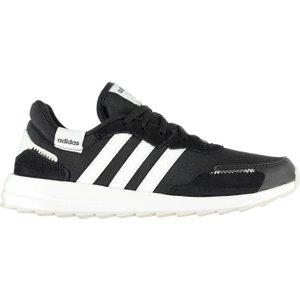 Adidas Retro Run Trainers Womens Black/white 389883 4 271307, Black/White