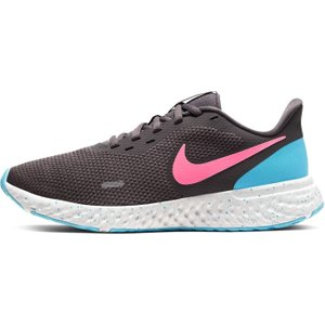 Nike Revolution 5 Womens Running Shoe Grey/pink/blue 373542 4 271160, Grey/Pink/Blue