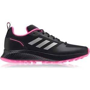 Adidas Runfalcon 2 Womens Trail Running Shoes Black/silver 567502 F884 271107, Black/Silver