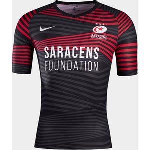 Nike Saracens Home Jersey Mens Black/red 447289 S 381694, Black/Red