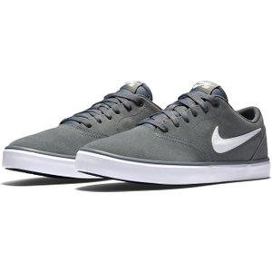 Nike Sb Check Solar Mens Skate Shoes Grey/white 130661 7 242102, Grey/White