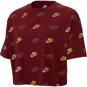 Nike Shine Crop T Shirt Ladies Red 376304 Xs 653369, Red