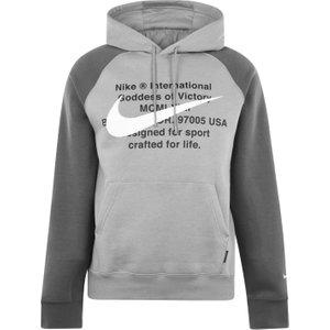 Nike Sportswear Swoosh Mens Pullover Hoodie Grey 400475 S 533770, Grey