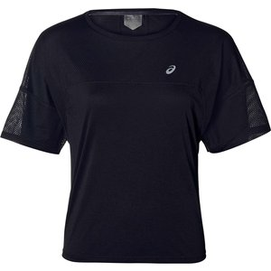 Asics Style Short Sleeve T Shirt Ladies Black/grey 307832 L 455478, Black/Grey