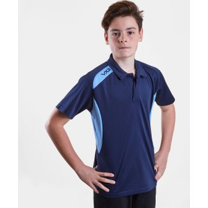 Vx 3 Team Tech Kids Polo Shirt Navy/sky 91449 Xlb 630507, Navy/Sky