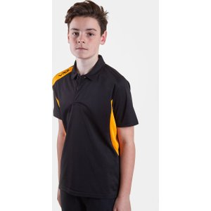 Vx 3 Team Tech Kids Polo Shirt Black/amber 91448 Mb 630507, Black/Amber
