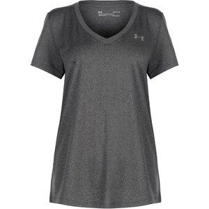 Under Armour Tech Solid T Shirt Ladies Carbon 128070 M 343124, Carbon