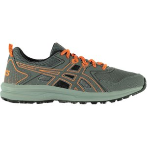 Asics Trail Scout Mens Trail Running Shoes Grey/orange 301355 12 213009, Grey/Orange