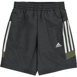 Adidas Tri Coloured Shorts Junior Boys Dkgrey 238786 Lb 433003, DkGrey