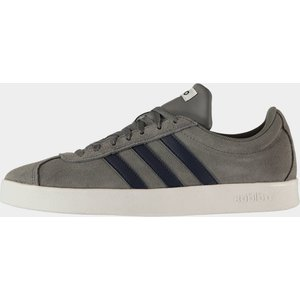 Adidas Vl Court 2.0 Mens Trainers Grey/navy/wht 112845 9 163038, Grey/Navy/Wht