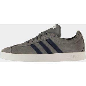 Adidas Vl Court 2.0 Mens Trainers Grey/navy/wht 112845 9 163038, Grey/Navy/Wht