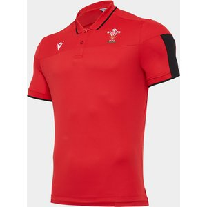 Macron Wales Polo Shirt Mens Red/black 431704 L 385494, Red/Black