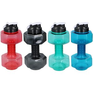 Unbranded Water Bottle Dumbbell 2.4 Litre Multi 452476 Ones 761223, Multi