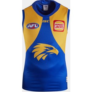 Isc West Coast Eagles 2020 Afl Home Replica Guernsey Blue/yellow 392113 3xl Wc20jsy01m, Blue/Yellow