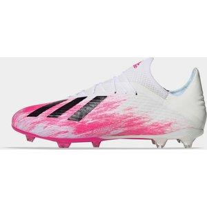 Adidas X 19.2 Mens Fg Football Boots White/shockpink 381482 9 203340, White/ShockPink