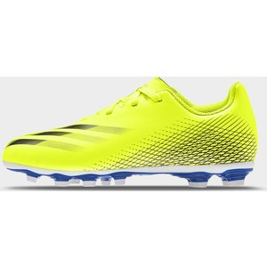 Adidas X Ghosted .4 Childrens Fg Football Boots Solyellow/blue 428899 12k 083053, SolYellow/Blue