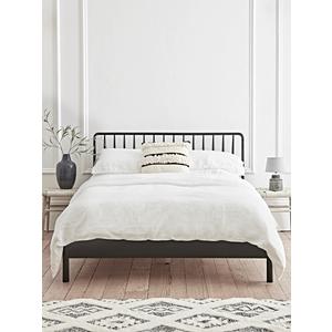 Bergen Oak Double Bed - Black 1221015