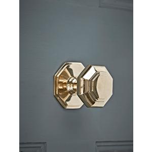 Brass Octagonal Centre Door Knob 1521152