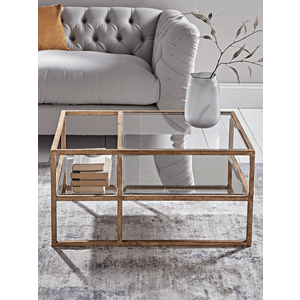 Burnished Gold & Antiqued Glass Coffee Table 1222033
