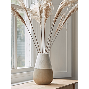 Dipped Speckled Tapered Vase - White Top 1125912