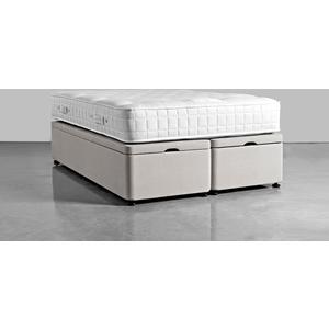 Double Storage Bed Base - Smoke Linen Cotton Blend 1925647