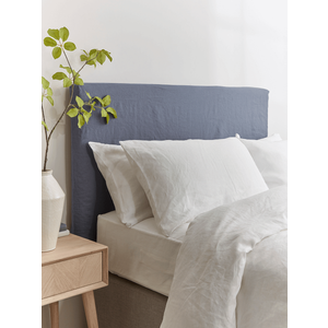 Indigo Washed Linen Replacement Headboard Cover - Double 1826199